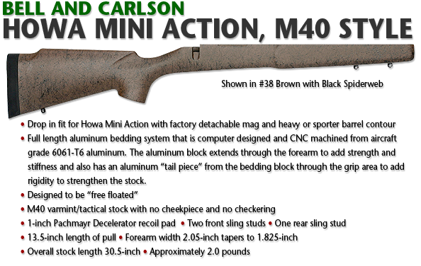 Bell and Carlson Howa MiniAction, M40 Style