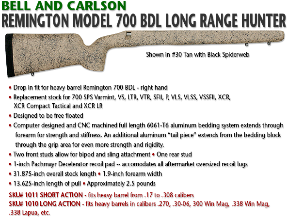Bell and Carlson Remington 700 BDL, Long Range Hunter