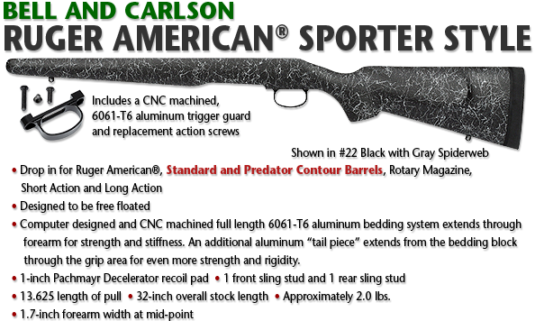 Bell and Carlson Ruger American® Sporter Style