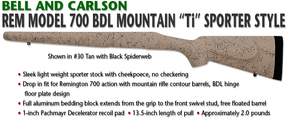 Bell and Carlson Remington 700 BDL Mountain Ti Sporter Style
