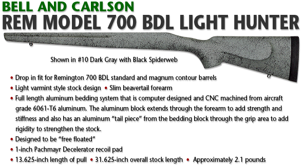 Bell and Carlson Remington 700 BDL Light Hunter