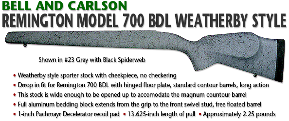 Bell and Carlson Remington 700 BDL, Weatherby Style