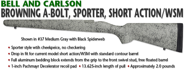 Browning A-Bolt Sporter Style, Short Action/WSM